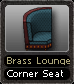 Brass Lounge Corner Seat