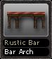 Rustic Bar Bar Arch