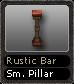 Rustic Bar Sm. Pillar