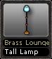 Brass Lounge Tall Lamp