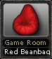 Game Room Red Beanbag