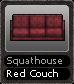 Squathouse Red Couch