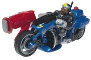 Rescue Heroes Jake Justice Action Figure on Rescue Motorcycle