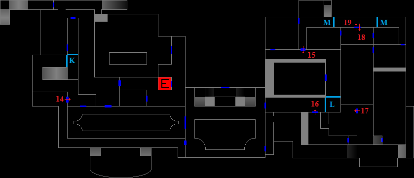 Mansion 2F - encounter map