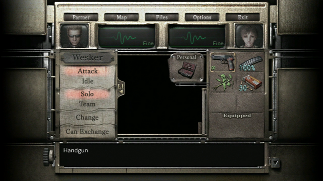 File:RE0HD Wesker Mode menu (Rebecca).png