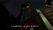 Resident Evil CODE Veronica - square in front of the guillotine - examines 08-1