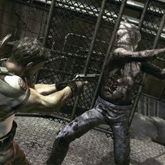 The Chainsaw Majini chasing Chris