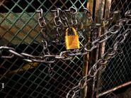Rear gate locked
