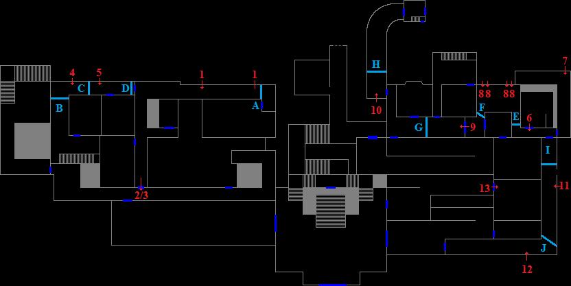 Mansion 1F - encounter map