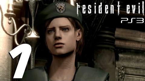 Resident Evil HD Remaster (PS3) - Jill Walkthrough Part 1 - Barry Burton & Jill Valentine