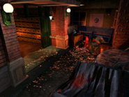 Resident Evil 3 background - Uptown - street along apartment building a - R10D00