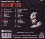 Resident Evil Original Soundtrack Remix - UK back cover