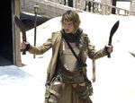 Resident evil extinction milla jovovich with knives