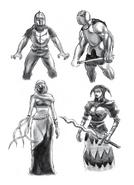 Resident Evil 4 Digital Archives - Ganados - Initial Concepts - Female Veiled Zealots - P.61