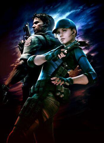 File:Biohazard 5 Alternative Edition Artwork - Chris and Jill.jpg