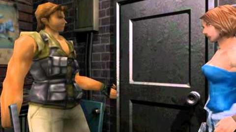 Resident Evil 3 Nemesis cutscenes - Exiting with Carlos (Restaurant's backdoor alternate)
