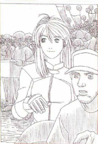 File:BIOHAZARD 1.5 concept artwork - Elza Walker early portrait line art draft 3.png