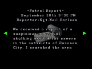 RE2 Patrol report 02