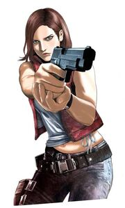 Biohazard Heavenly Island artwork - Claire Redfield