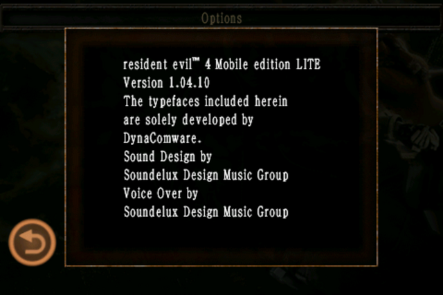 File:Resident Evil 4 Mobile Edition Lite - About screen.png