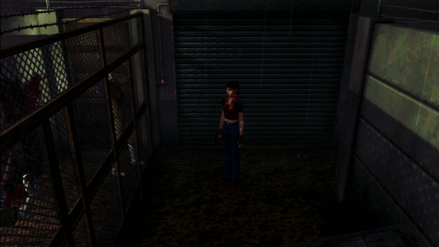 File:Resident Evil CODE Veronica - square in front of the guillotine - gameplay 02.png