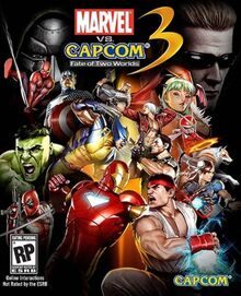 Marvel vs Capcom 3 Fate of Two Worlds Cover Art