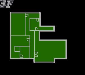 Resident Evil 2 prototype - Police Station map - 3F