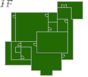 Resident Evil 2 prototype - Police Station map - 1F