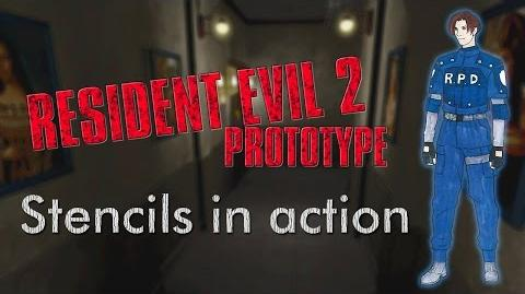 Resident Evil 2 Prototype (1.5) Stencil buffer in the actual game