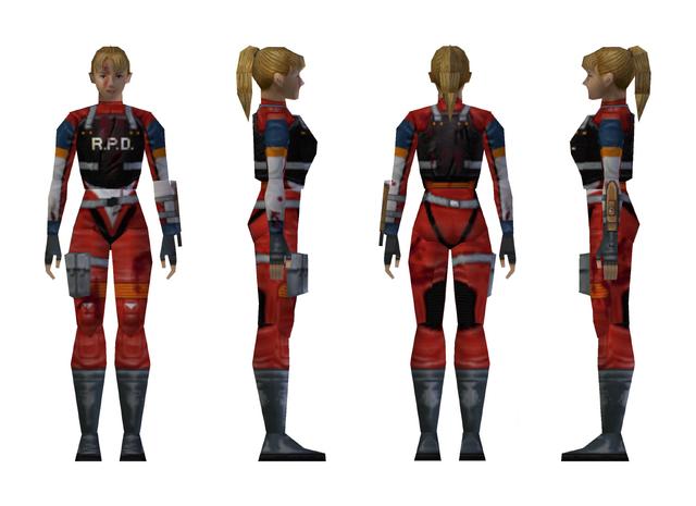 File:Resident Evil 2 - Elza Walker RPD armor model (damage 1).png