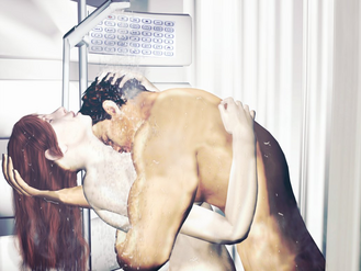 Jane and Michael in the Shower