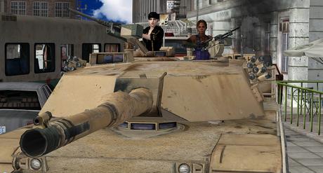 Jill and Sheva in an M1 Abrams