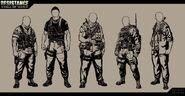 Resistance Soldier Concept Art