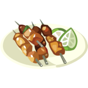 Salmon Kebabs With Chili Lime Glaze