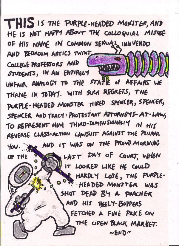 Purpleheadedmonster