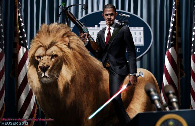 File:Obama riding a lion by sharpwriter-d5ftze6-1-.jpg