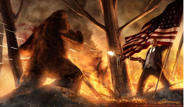 File:Teddy roosevelt vs bigfoot.jpg