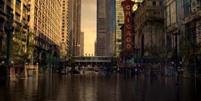 Chicago flooded