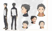 Natsuki Subaru Character Art Alternate