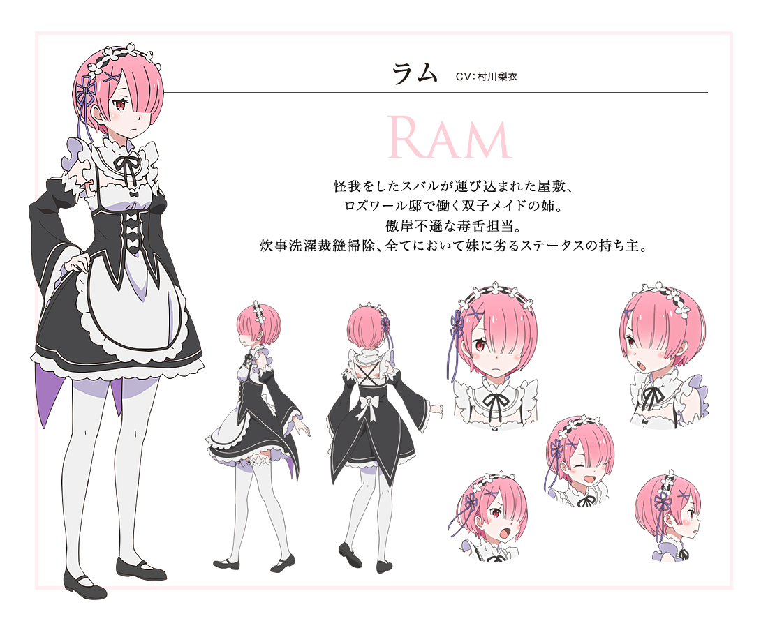 Image - Ram Character Art.png | Re:Zero Wiki | Fandom powered by Wikia