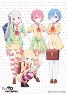 Re Zero School Uniform Poster