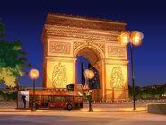 Arc de Triomphe night