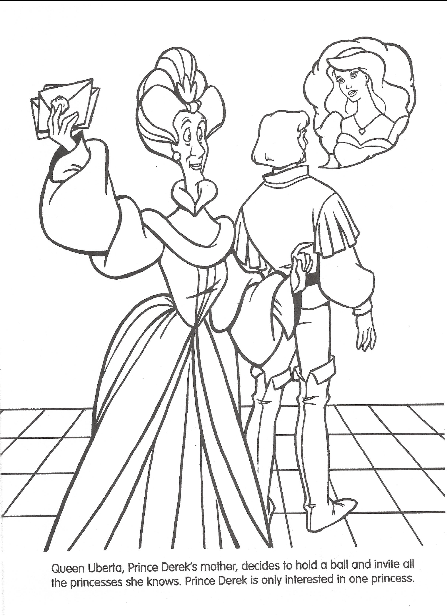 Swan princess coloring pages free - File Swan Princess Official Coloring Page 18 Png
