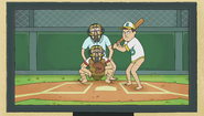 S1e8 pantsless baseball