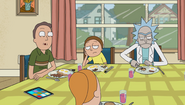 Jerry and Rick are angry at the table