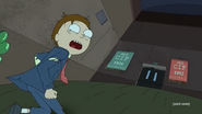 Morty running to the Herpsons