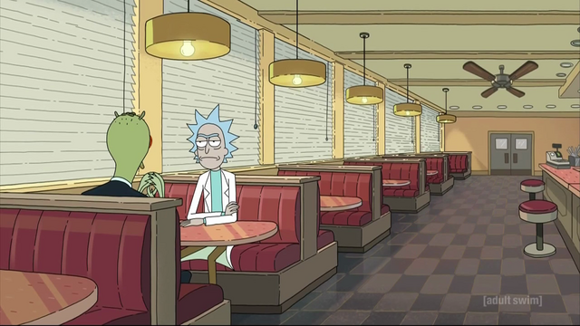 File:S3e1 rick and daniel at booth.png