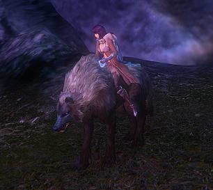 Black Wolf -mount