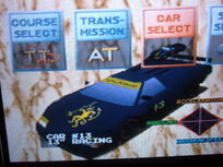 Ridge racer black car woohoo!