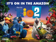 Rio 2 on in the Amazon Poster